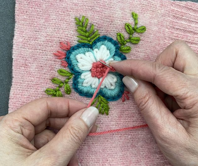 Embroidered Flower French Knots