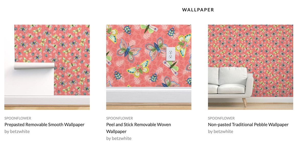 Spoonflower shop wallpaper