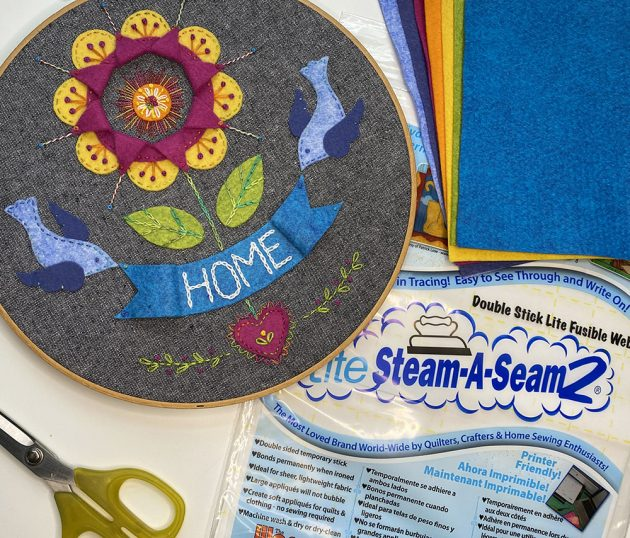 Just One Word embroidery-and-steam-a-seam