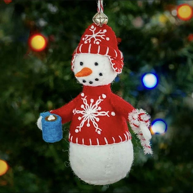 sweater weather snowman ornament