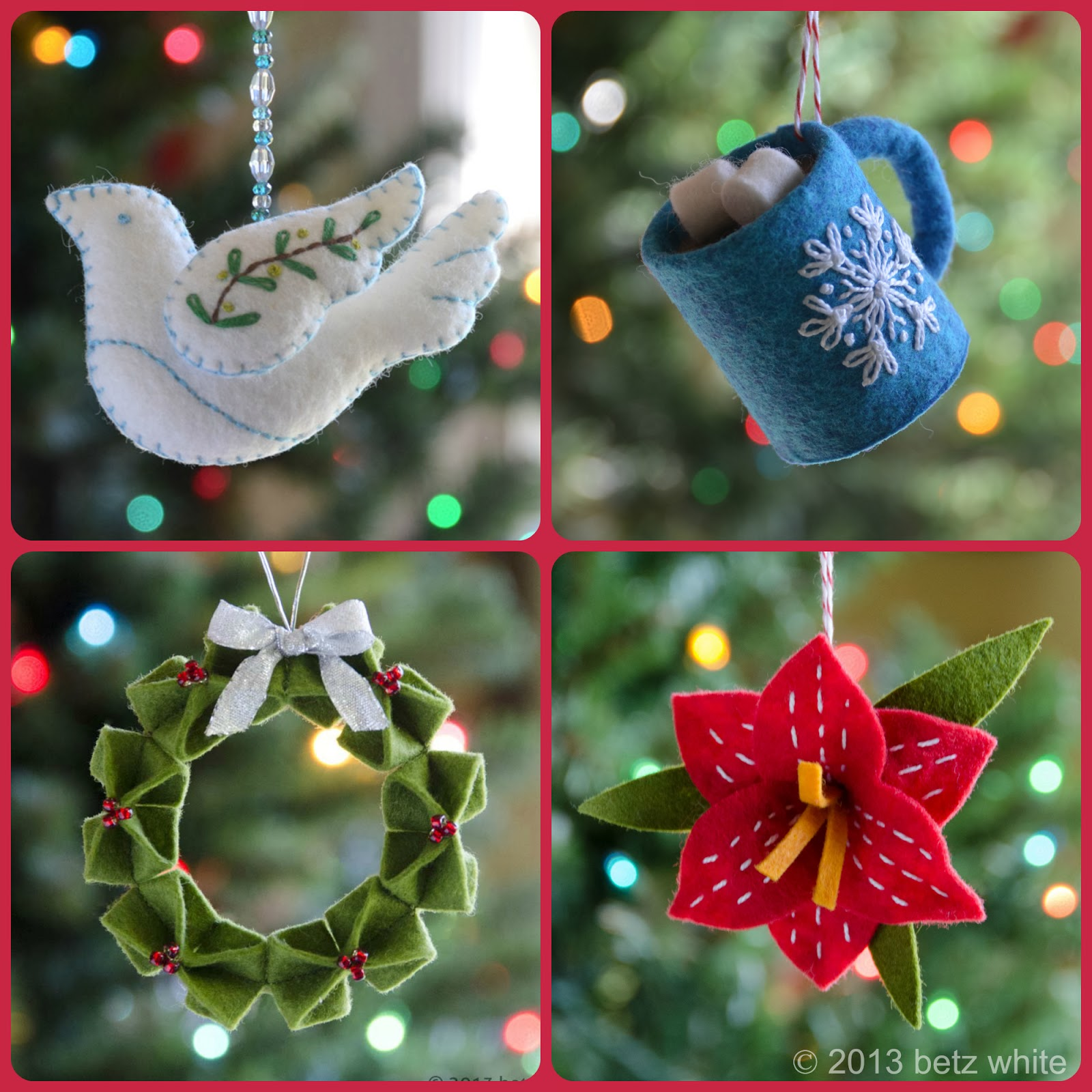 Holiday stitch along ornament club 4 christmas amaryllis for Amaryllis christmas decoration
