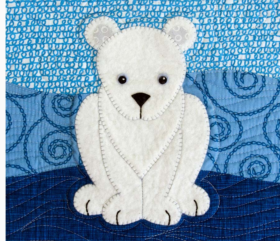Polar Babies Quilt And Pillow Betz White