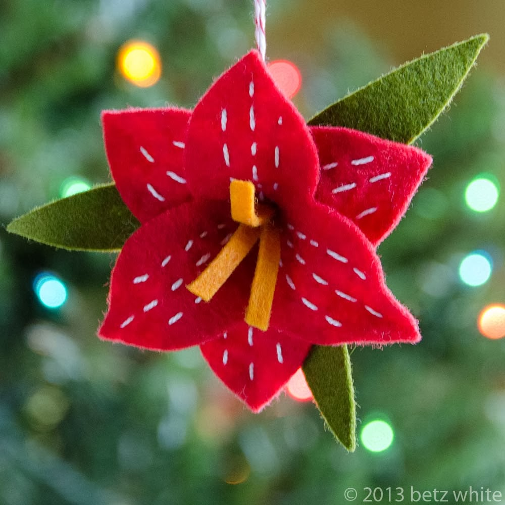 Today the 4th ornament of the Holiday Stitch-along Ornament Club is ...