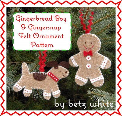 Gingerbread boy and his dog Gingersnap - Betz White
