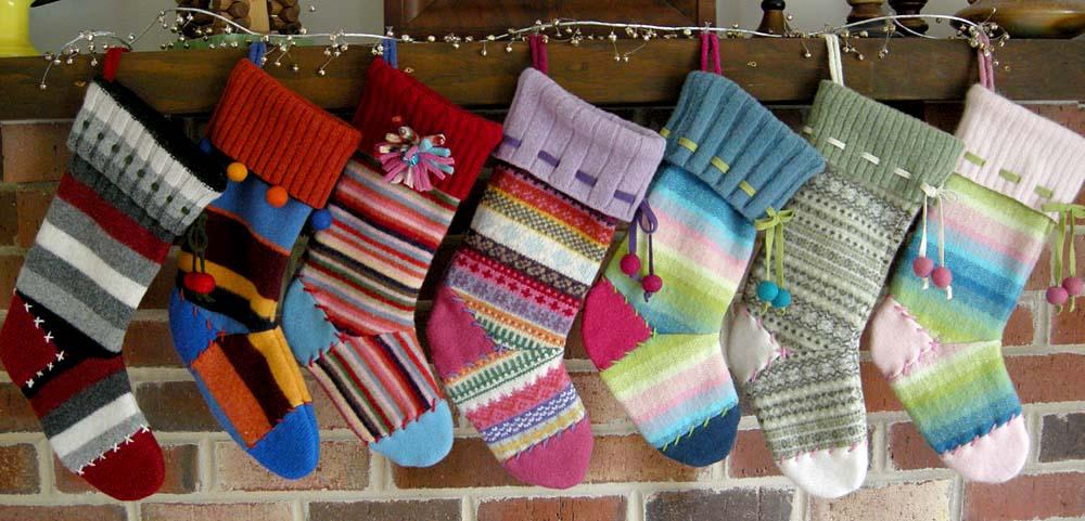 Вязаные носки на новый год своими руками