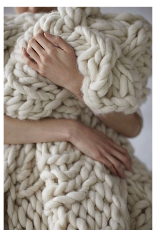 Knitting Patterns For Chunky Throws : funky chunky - Betz White